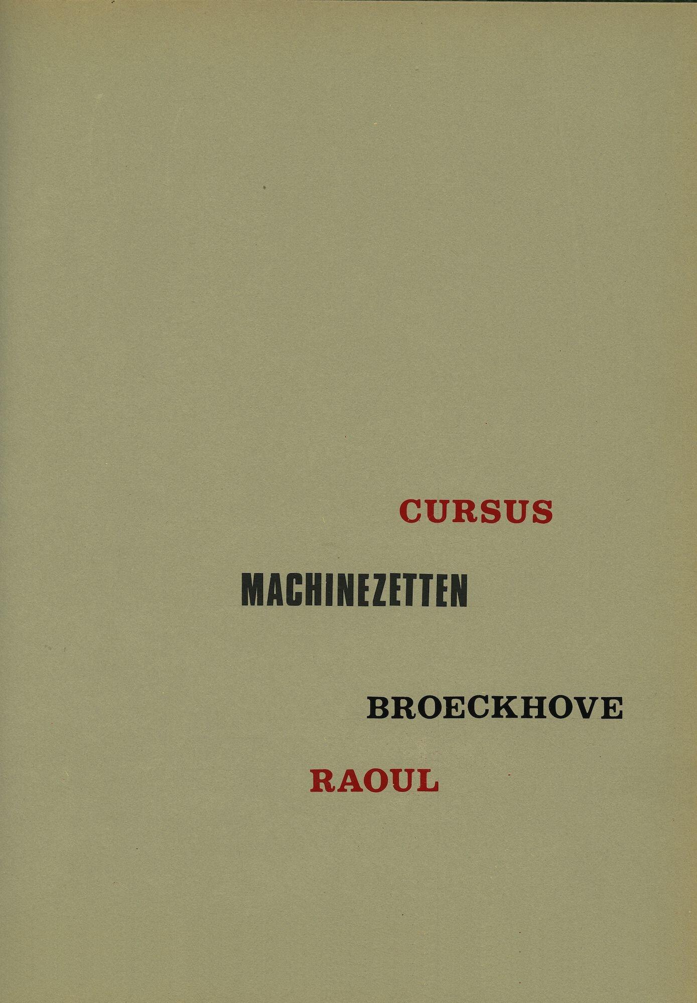 Cursus machinezetten