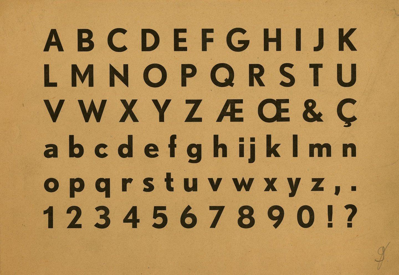 Letterproef van niet nader bepaald lettertype