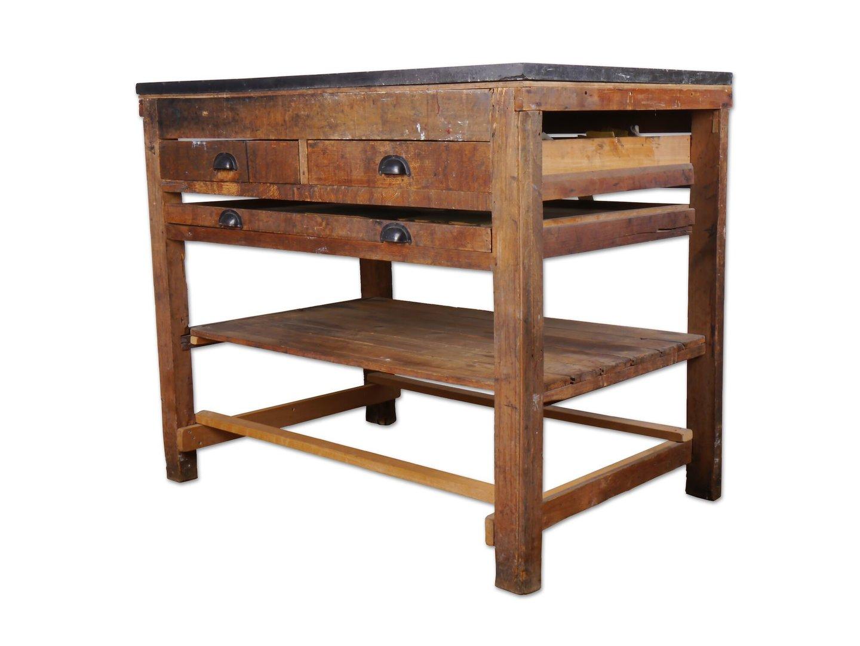Werktafel gebruikt in drukkerij
