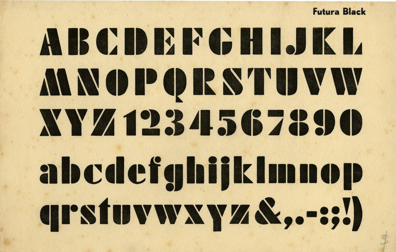 Letterproef van het lettertype Futura Black
