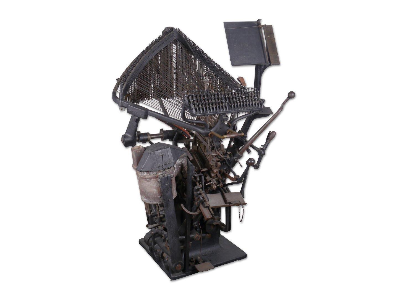 Regelzetmachine van het merk Typograph