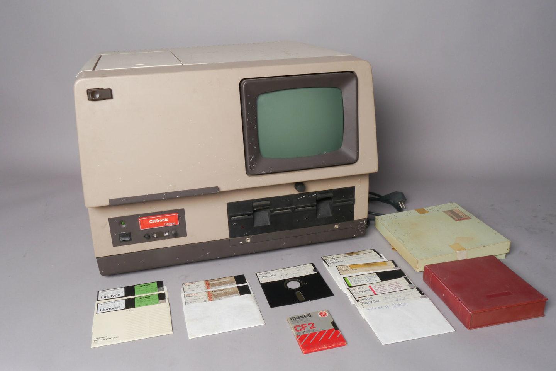 Fotografische zetmachine van het merk Linotype