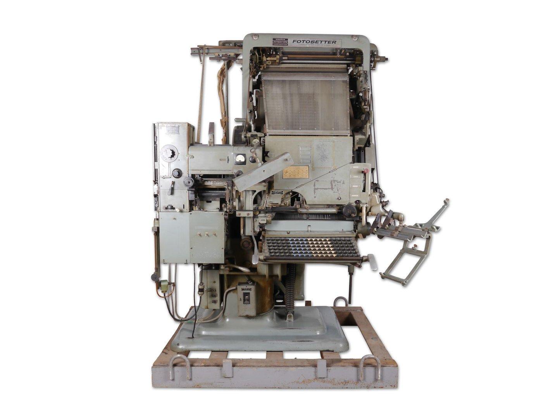 Fotografische zetmachine van het merk Intertype