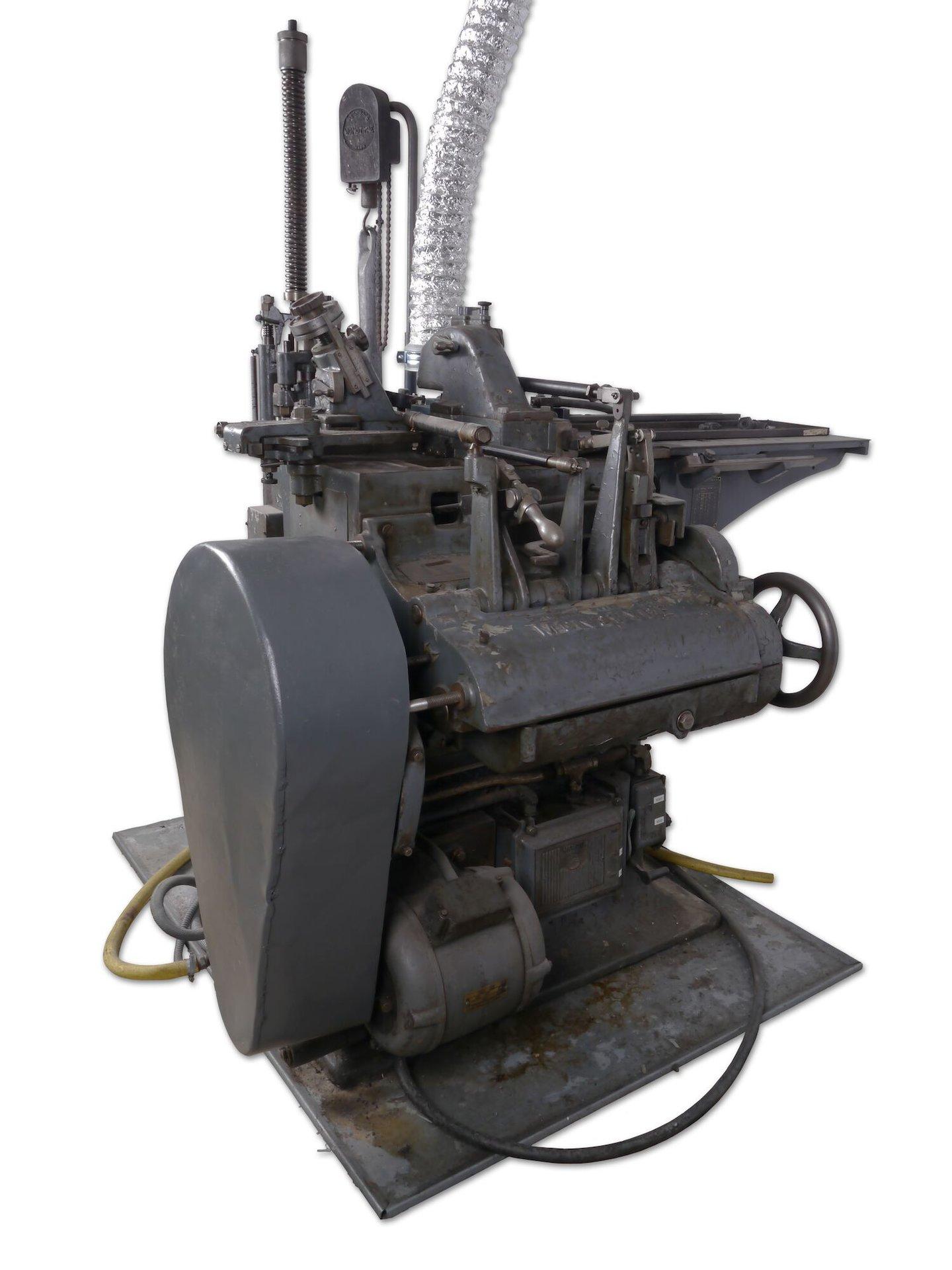 Lettergietmachine van het merk Monotype