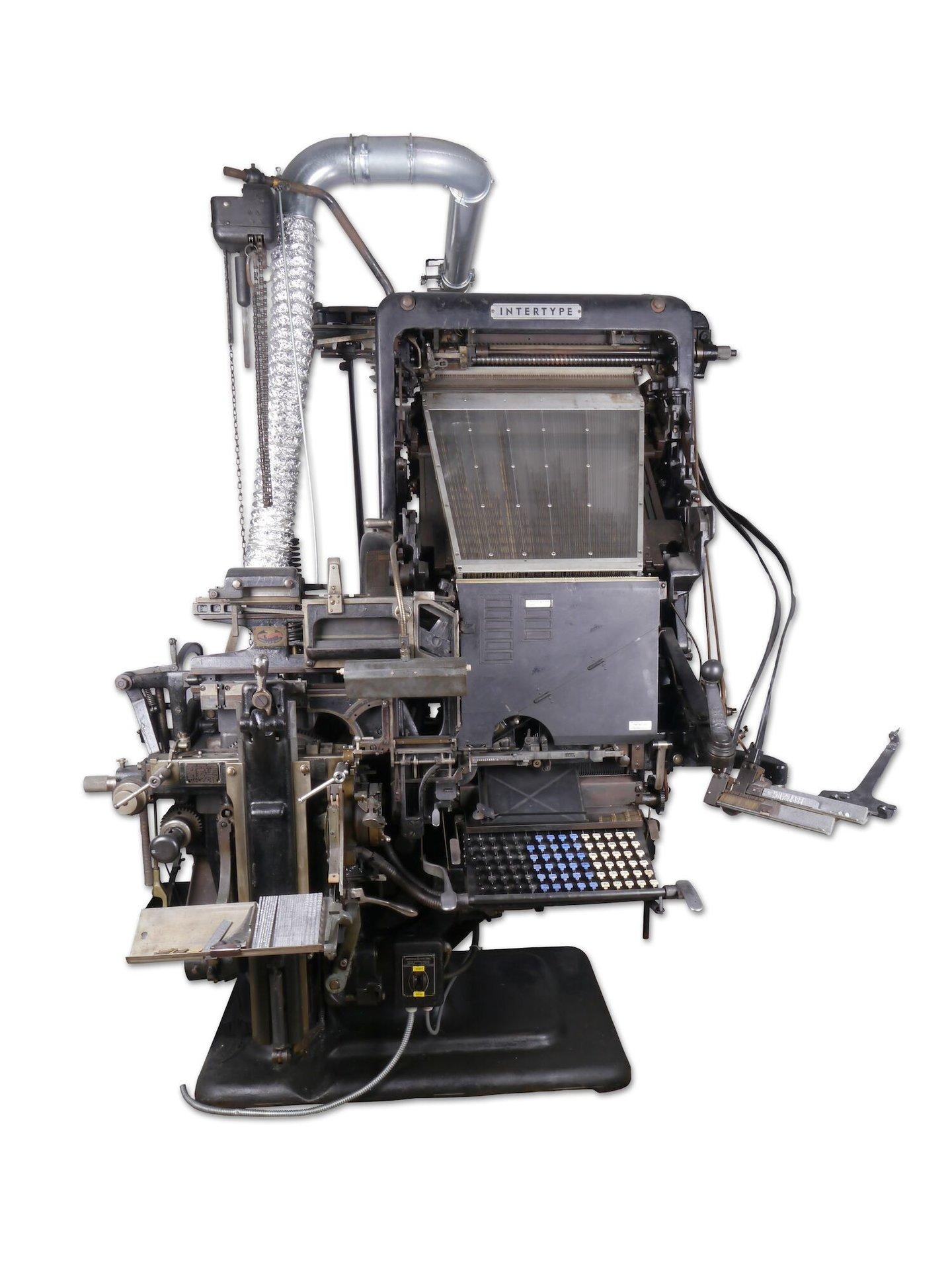 Regelzetmachine van het merk Intertype