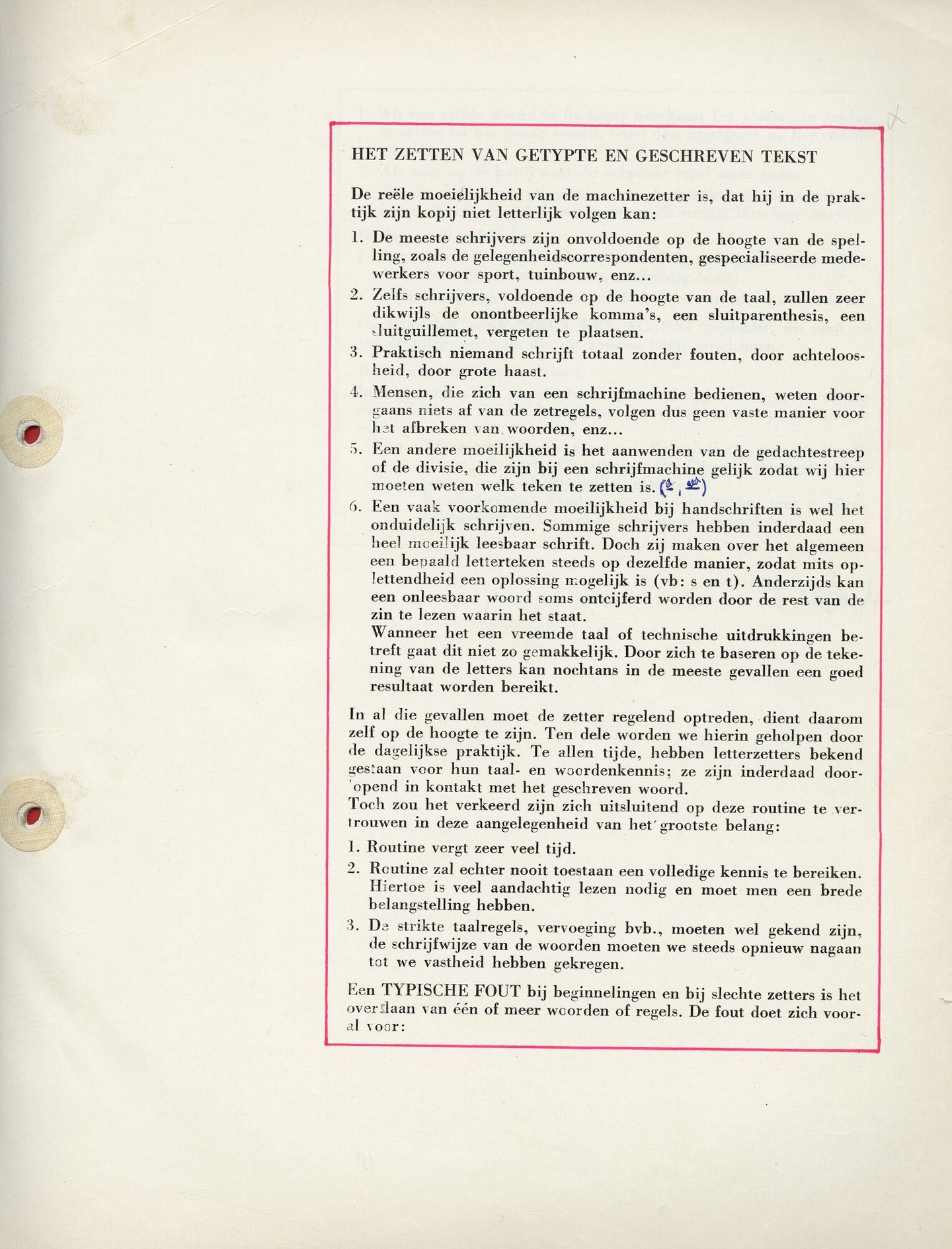 Cursus machinezetten