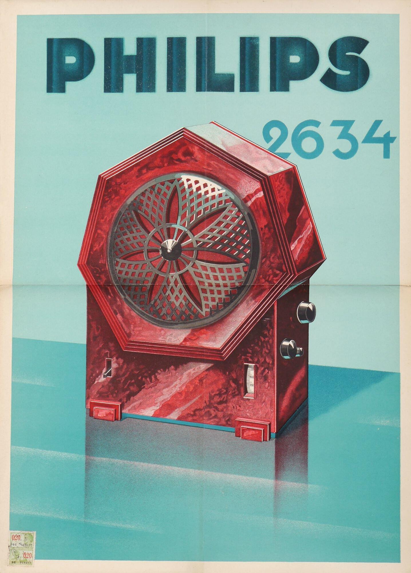 Reclameaffiche voor radio van het merk Philips