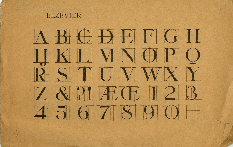 Letterproef van het lettertype Elzevier