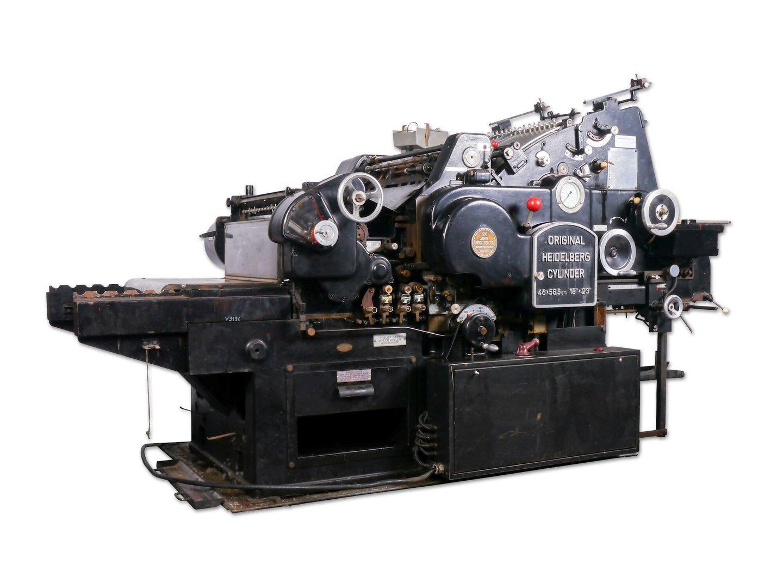 Volautomatische cilinderpers van merk Heidelberg