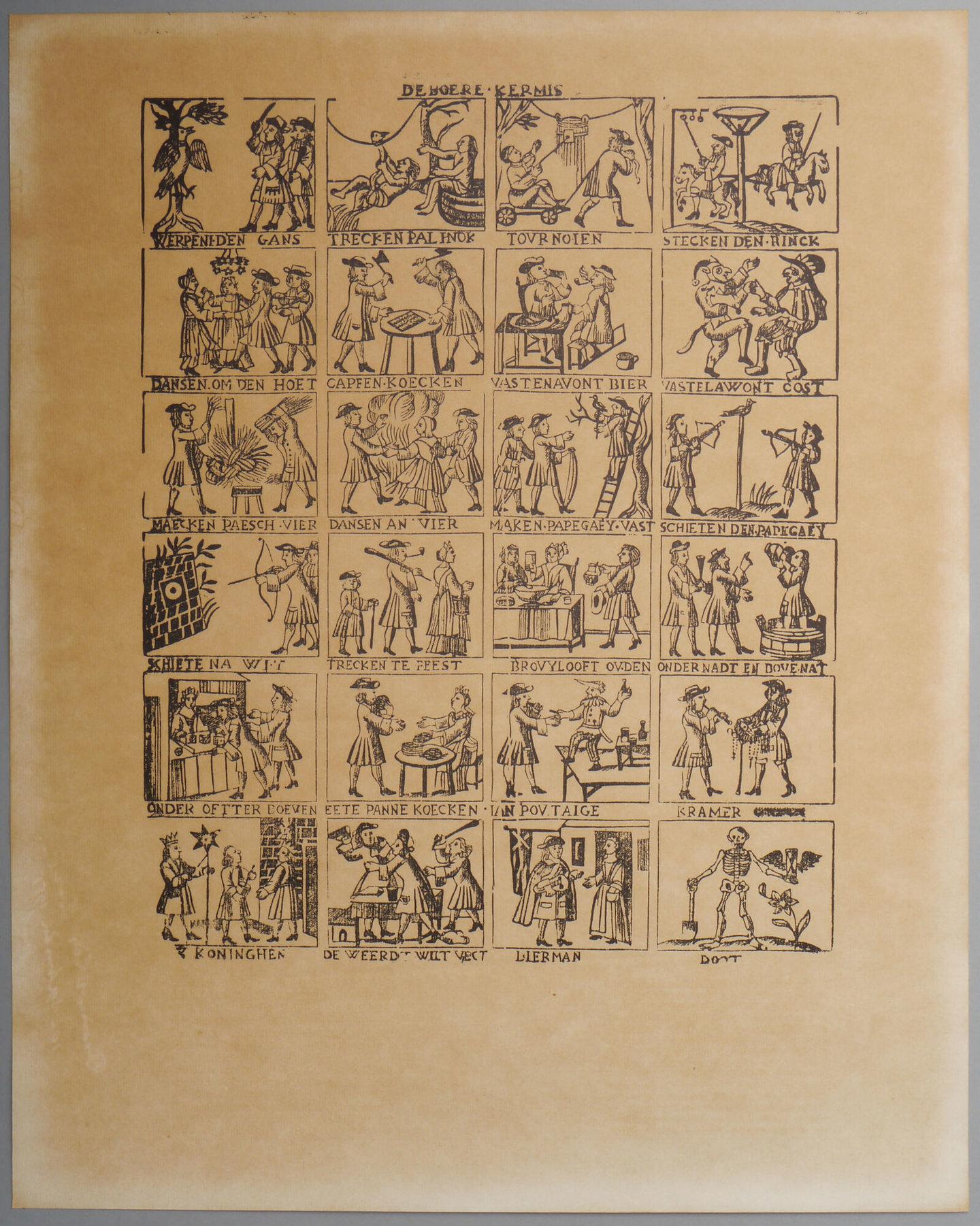 Afdruk van een houtsnede