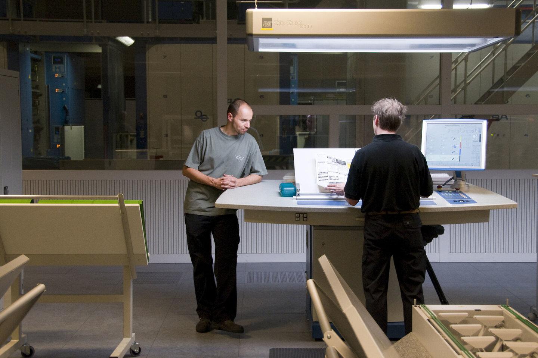 Binnenzicht van het Eco Print Centrum te Lokeren