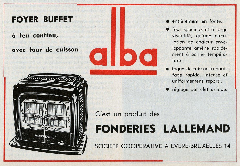 Reclame voor fornuis van het merk Alba