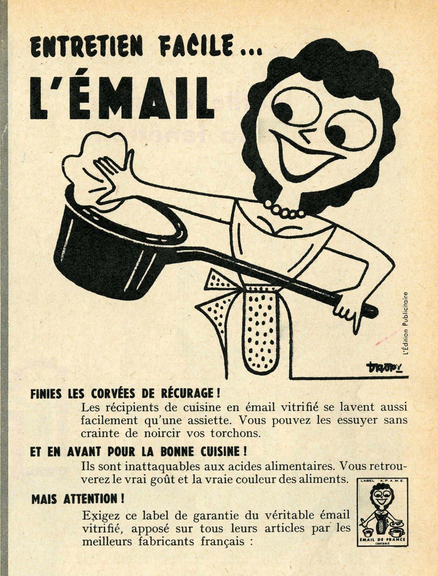 Reclame voor keurmerk Émail de France