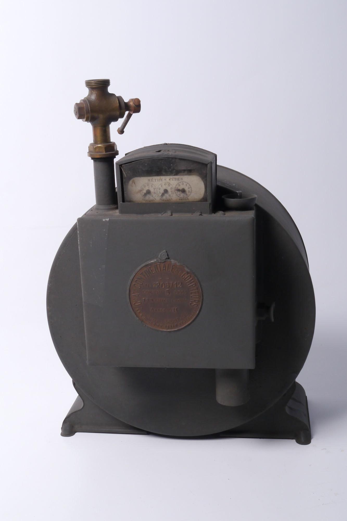 Verbruiksmeter voor gas van het merk Compagnie Continentale des Compteurs