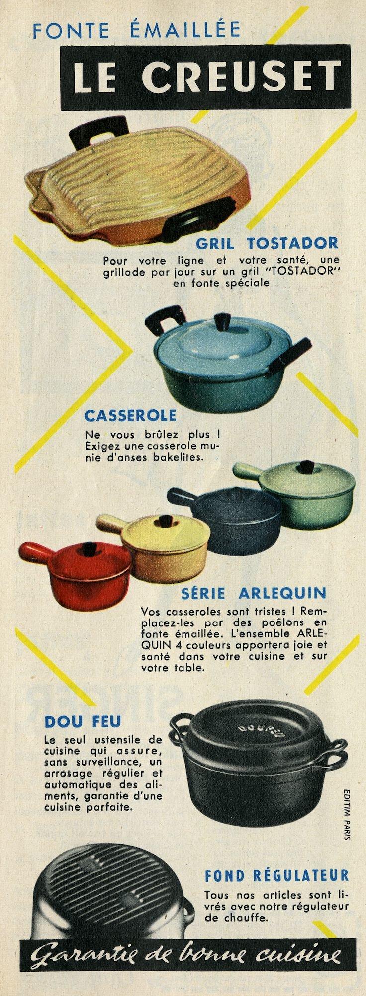 Reclame voor kookpotten van het merk Le Creuset