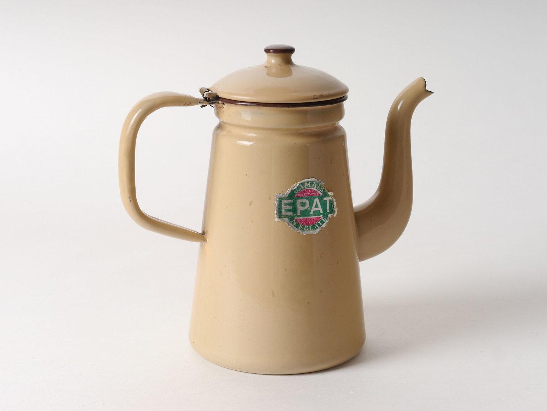 Geëmailleerde kan voor koffie van het merk Epat