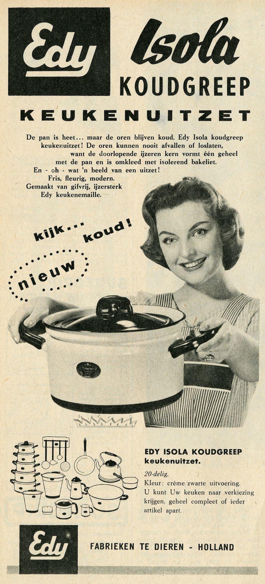 Reclame voor kookpotten van het merk Edy