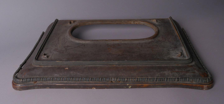 Vloerplaat van het merk Costermans voor een gaskachel