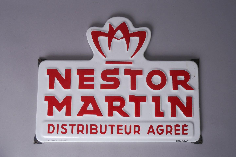 Geëmailleerd reclamebord van Nestor Martin