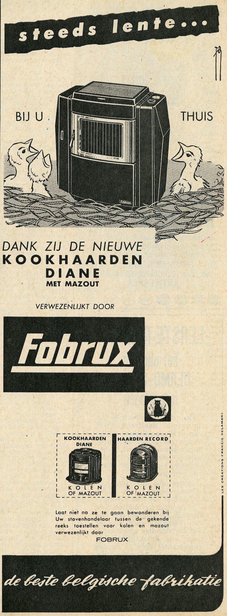 Reclame voor kookhaarden van het merk Fobrux