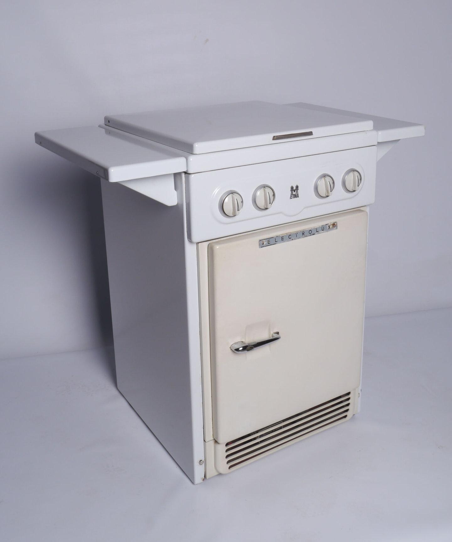 Gasfornuis en koelkast van het merk Electrolux