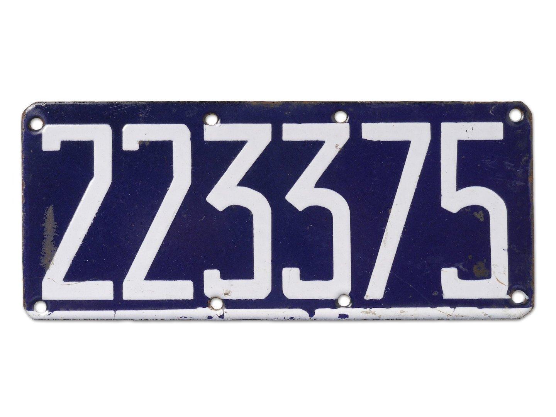 Geëmailleerde nummerplaat