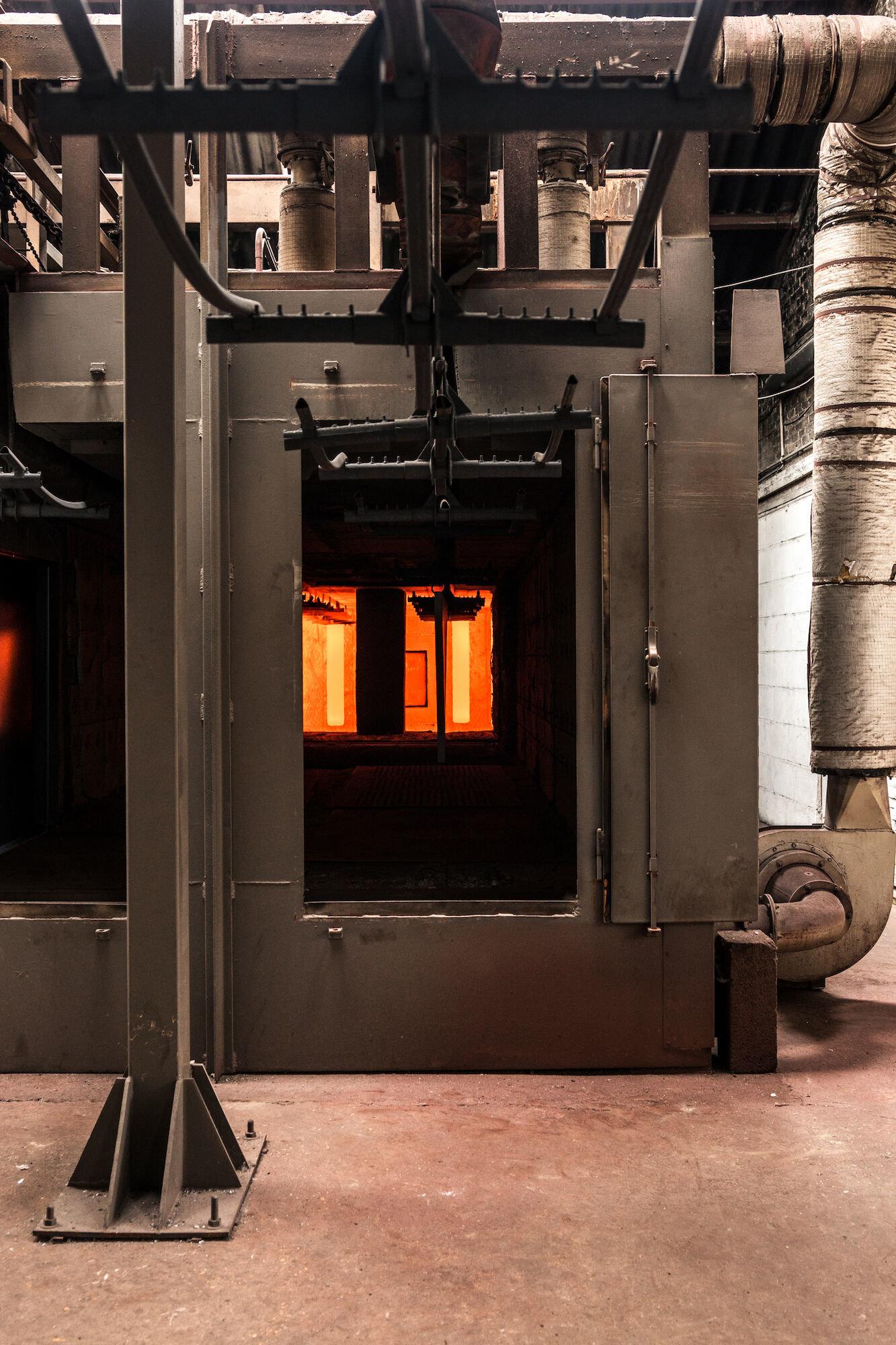 Oven in het atelier van Emaillerie Belge