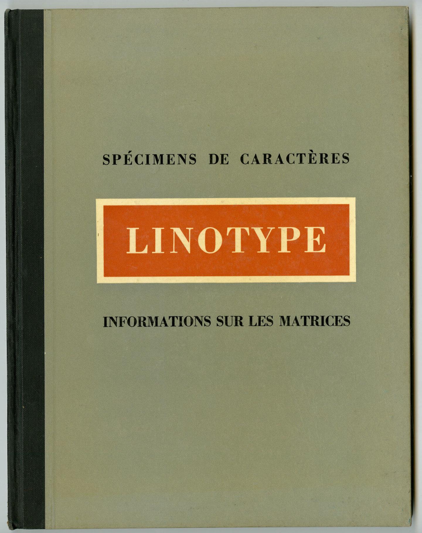 Letterproef met verschillende lettertypes van Linotype