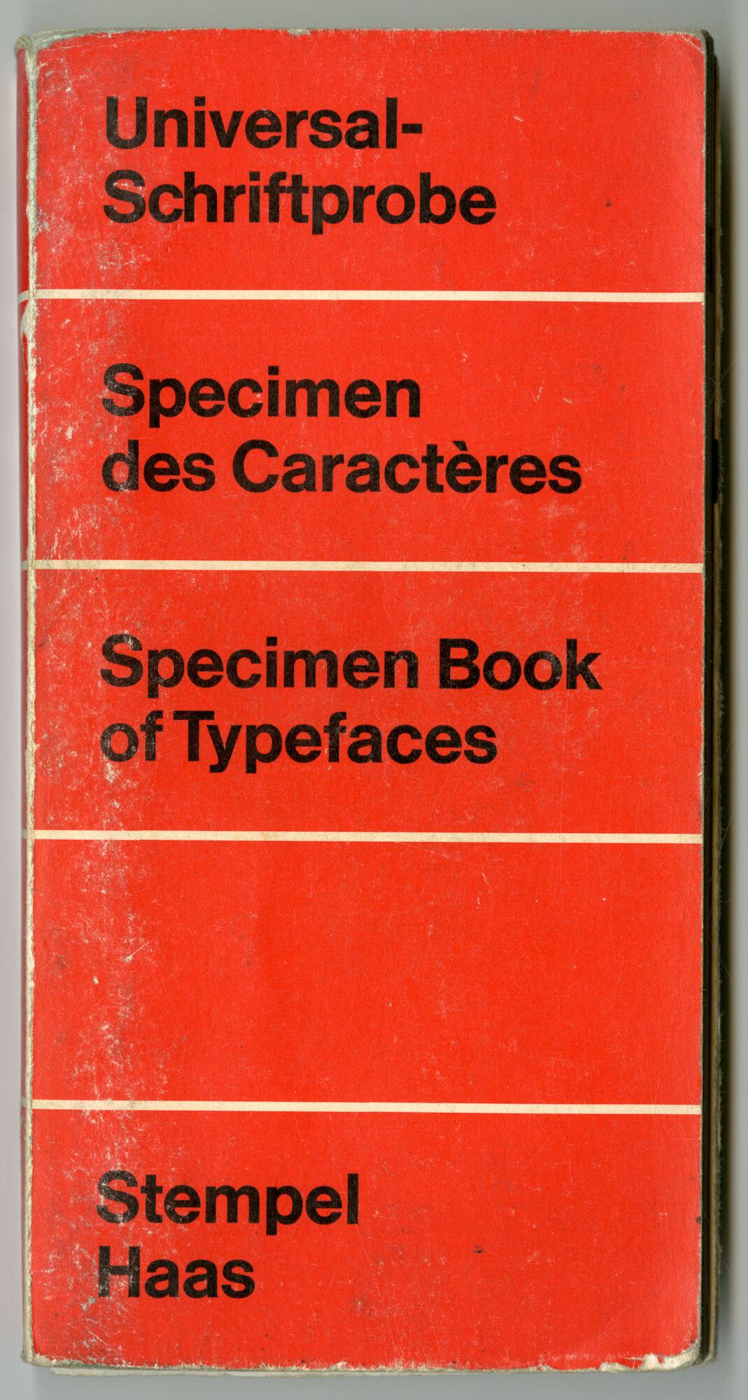 Letterproef met verschillende lettertypes van Stempel en Haas