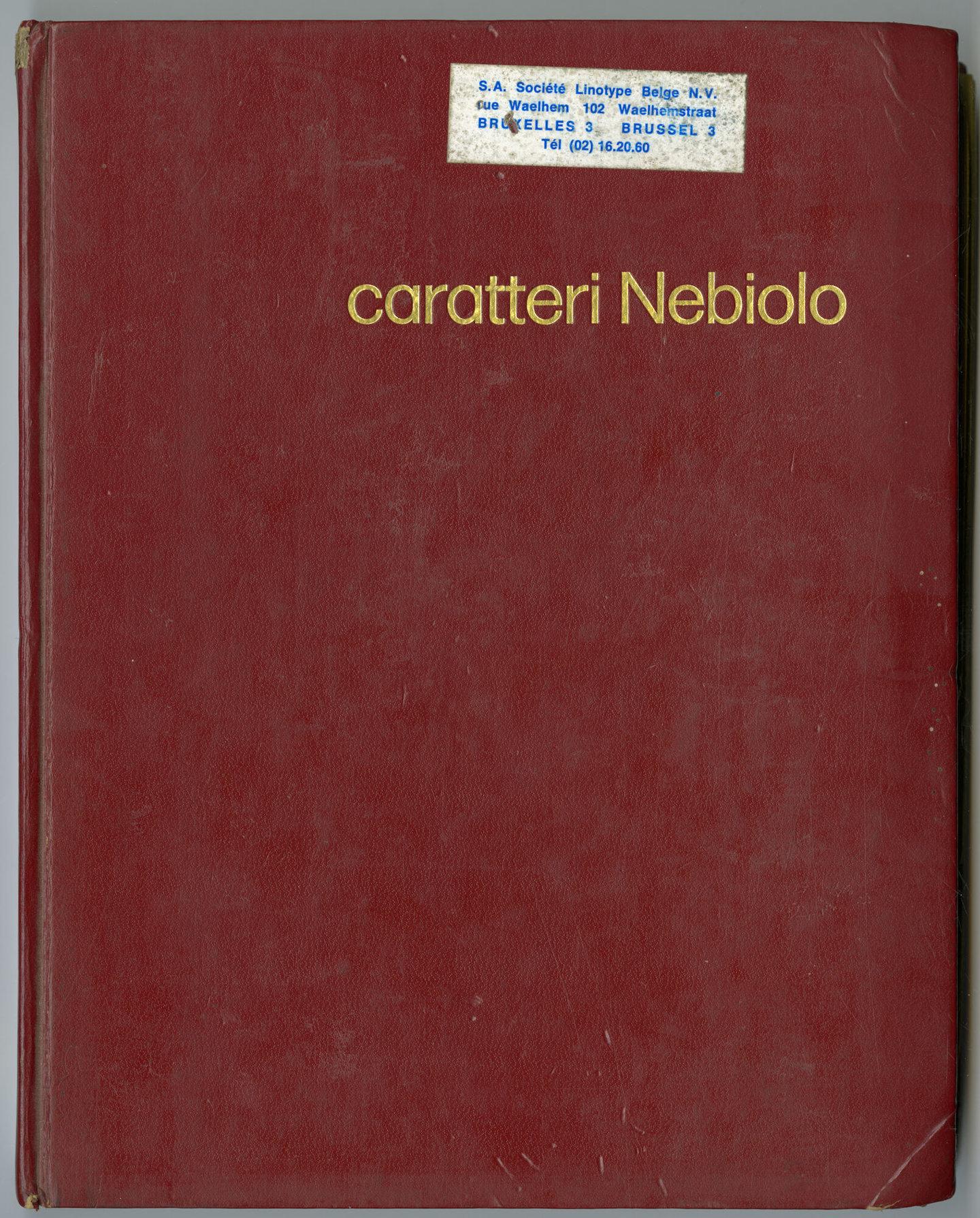 Letterproef met verschillende lettertypes van Nebiolo
