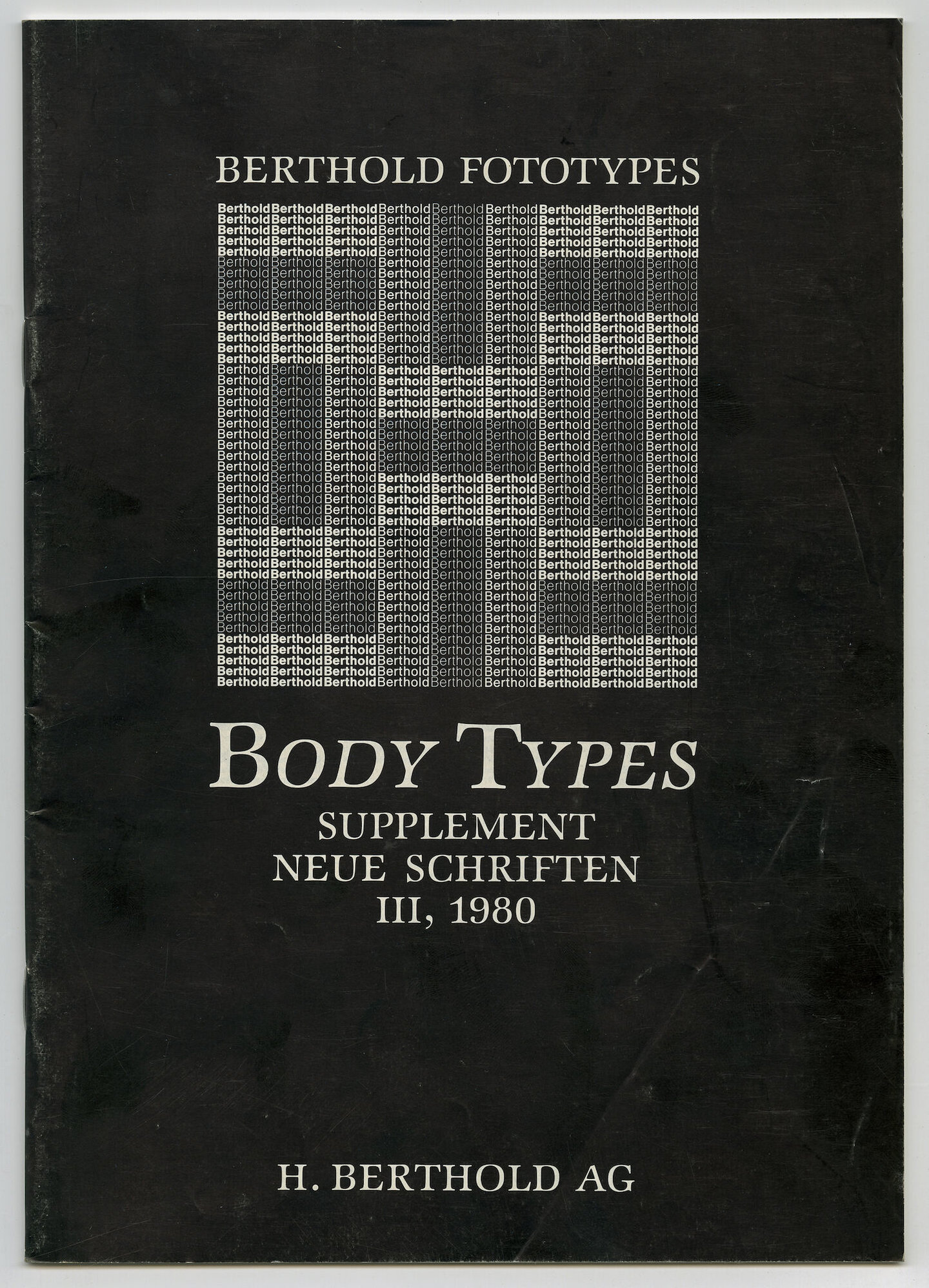 Letterproef met lettertypes van Berthold