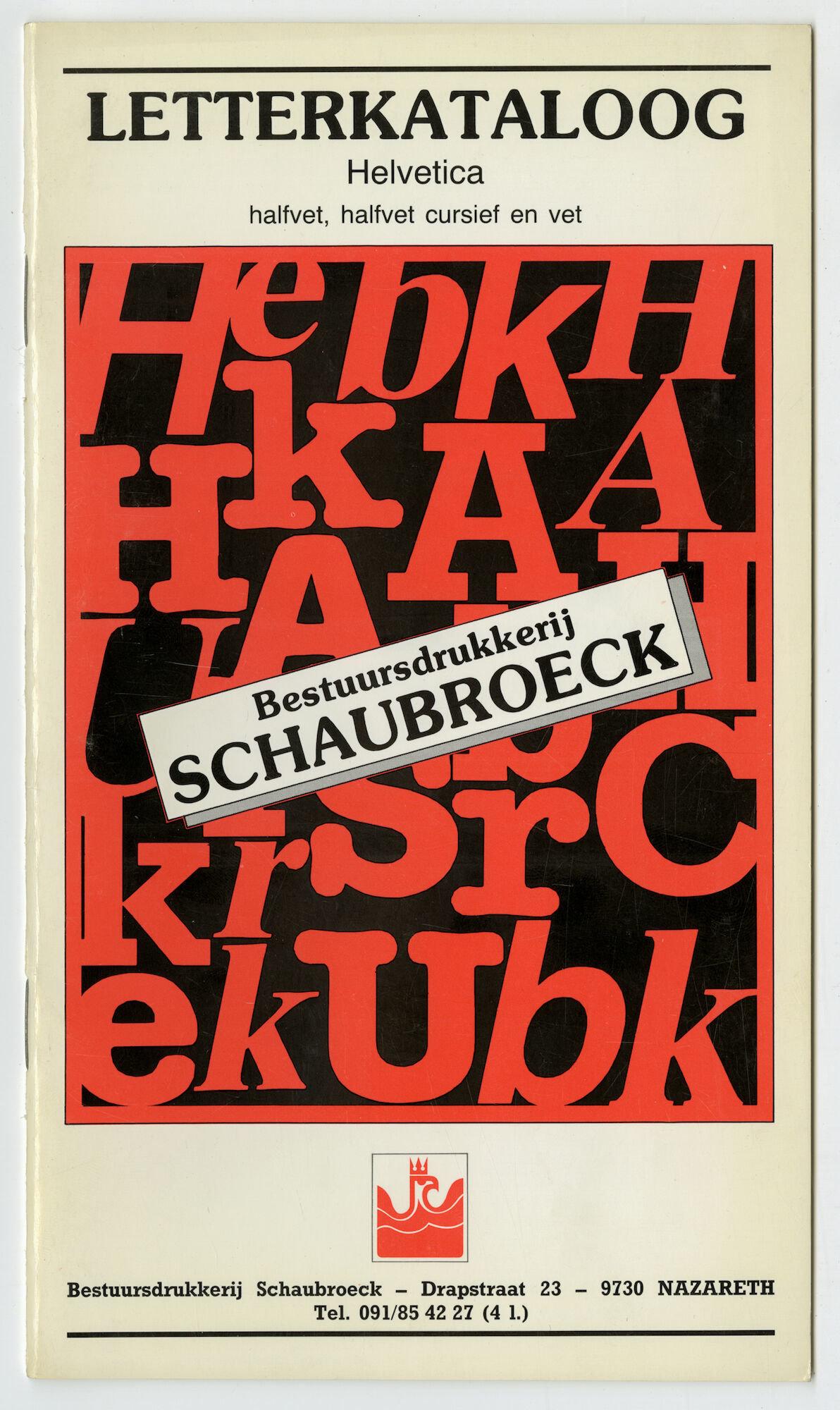 Letterproef met het lettertype Helvetica
