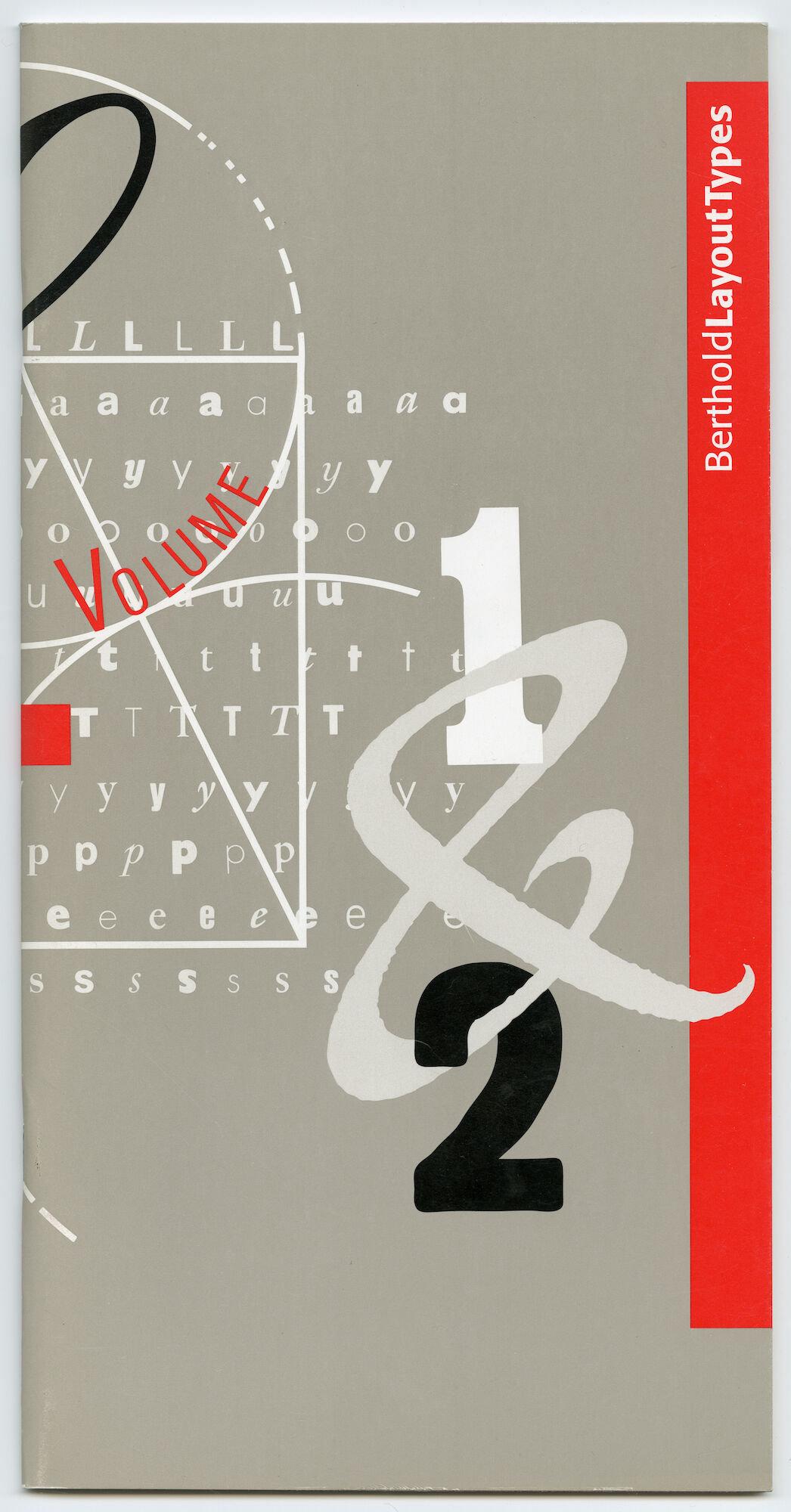 Letterproef met digitale lettertypes van Berthold