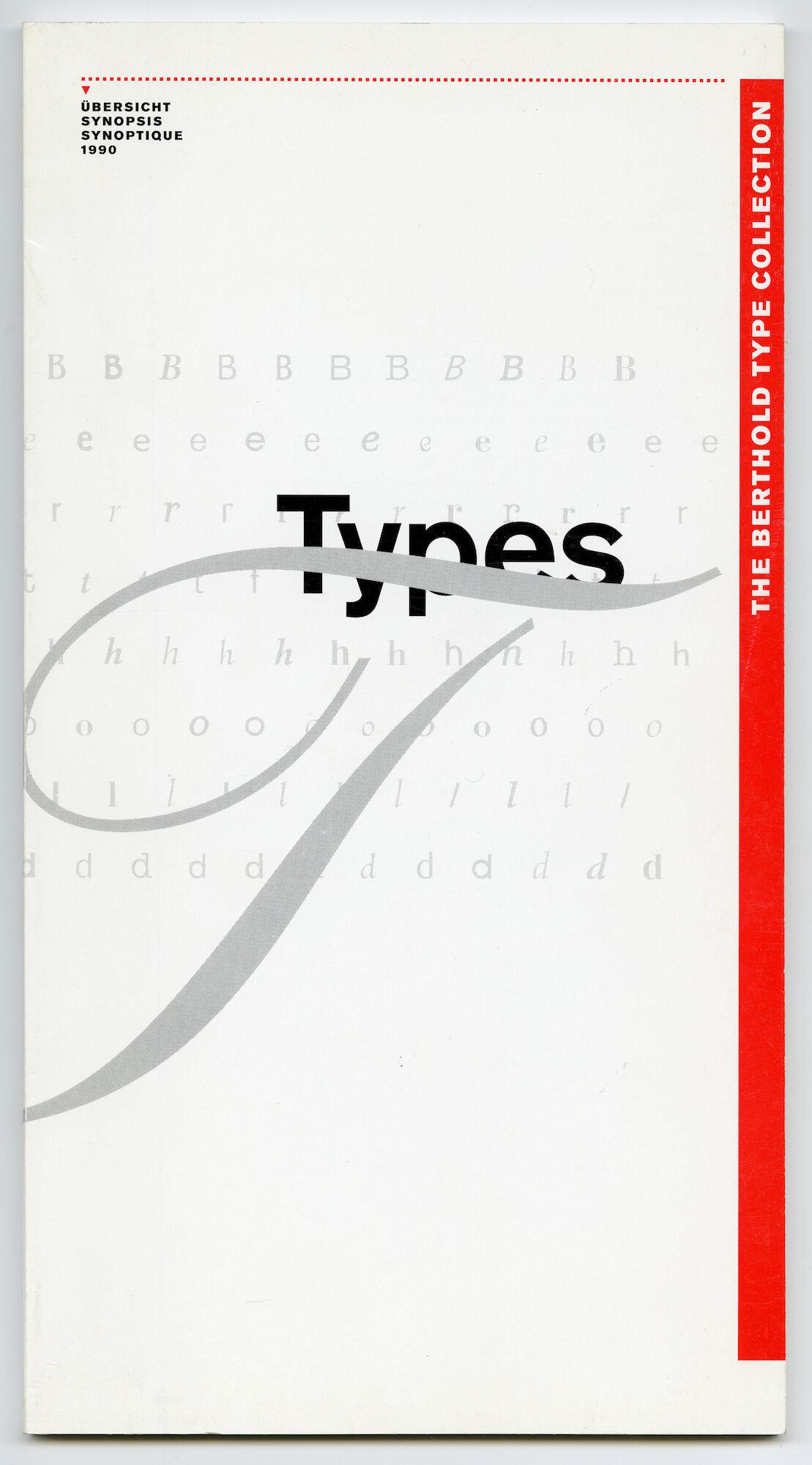 Letterproef met verschillende lettertypes van Berthold