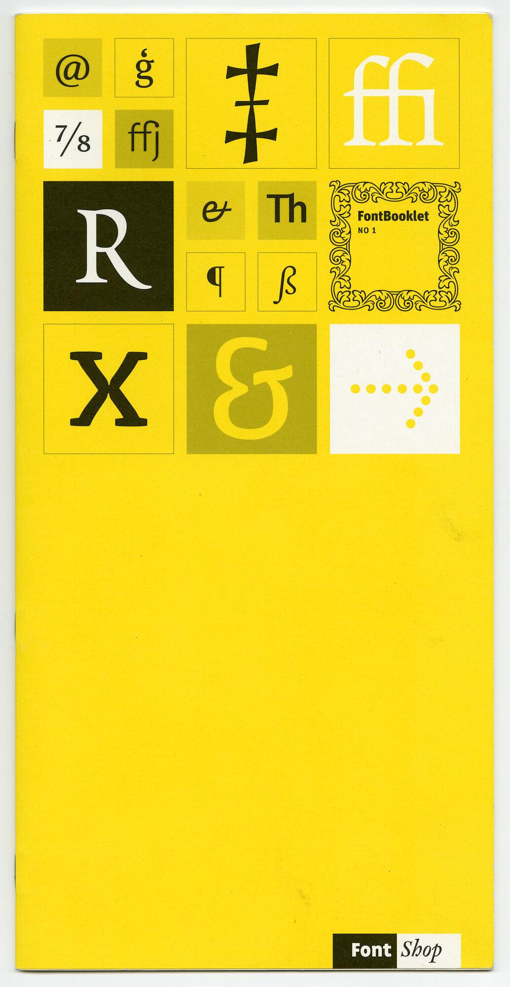Letterproef met verschillende digitale lettertypes van Fontshop