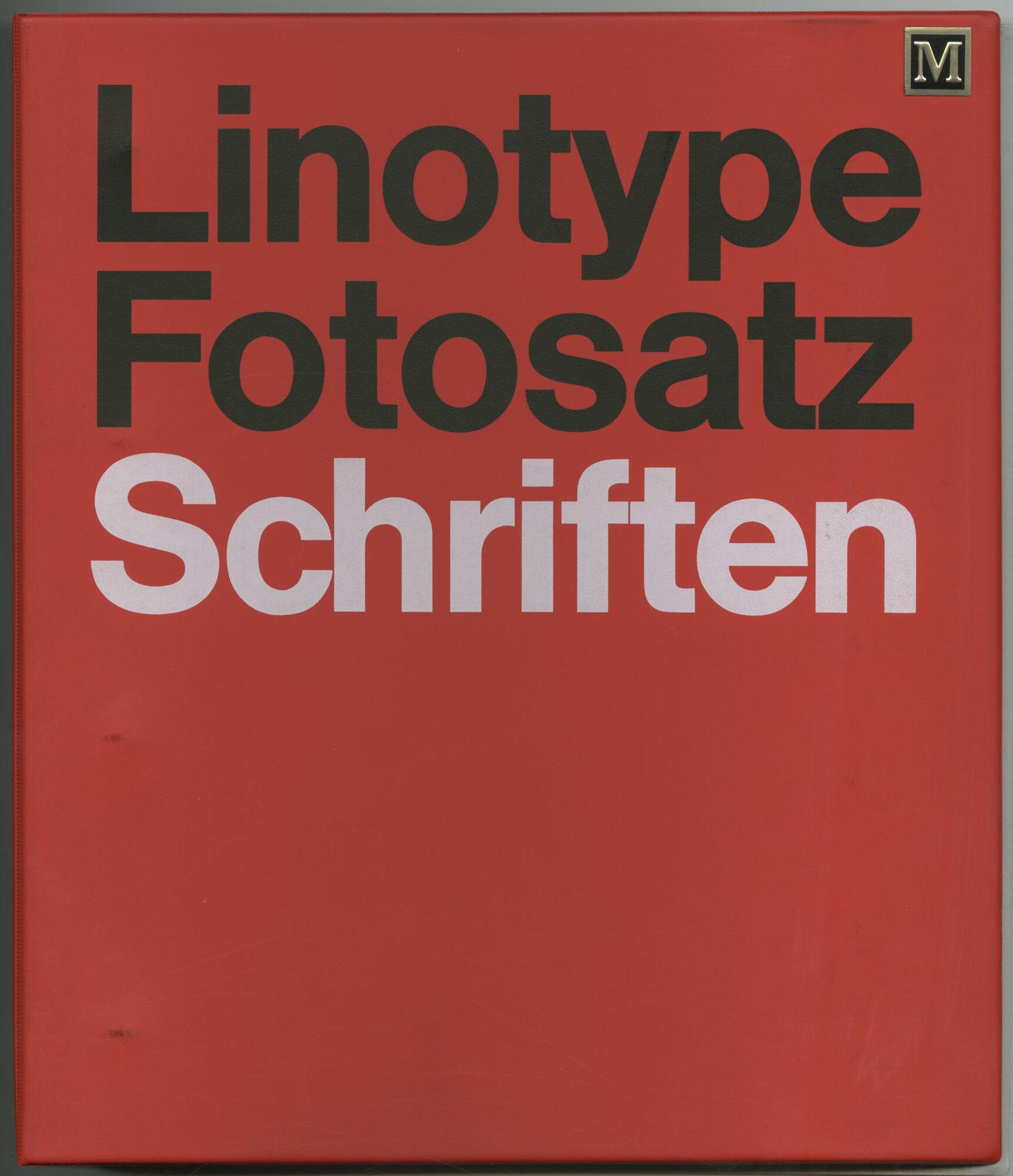 Letterproef met lettertypes voor fotozetten van Linotype