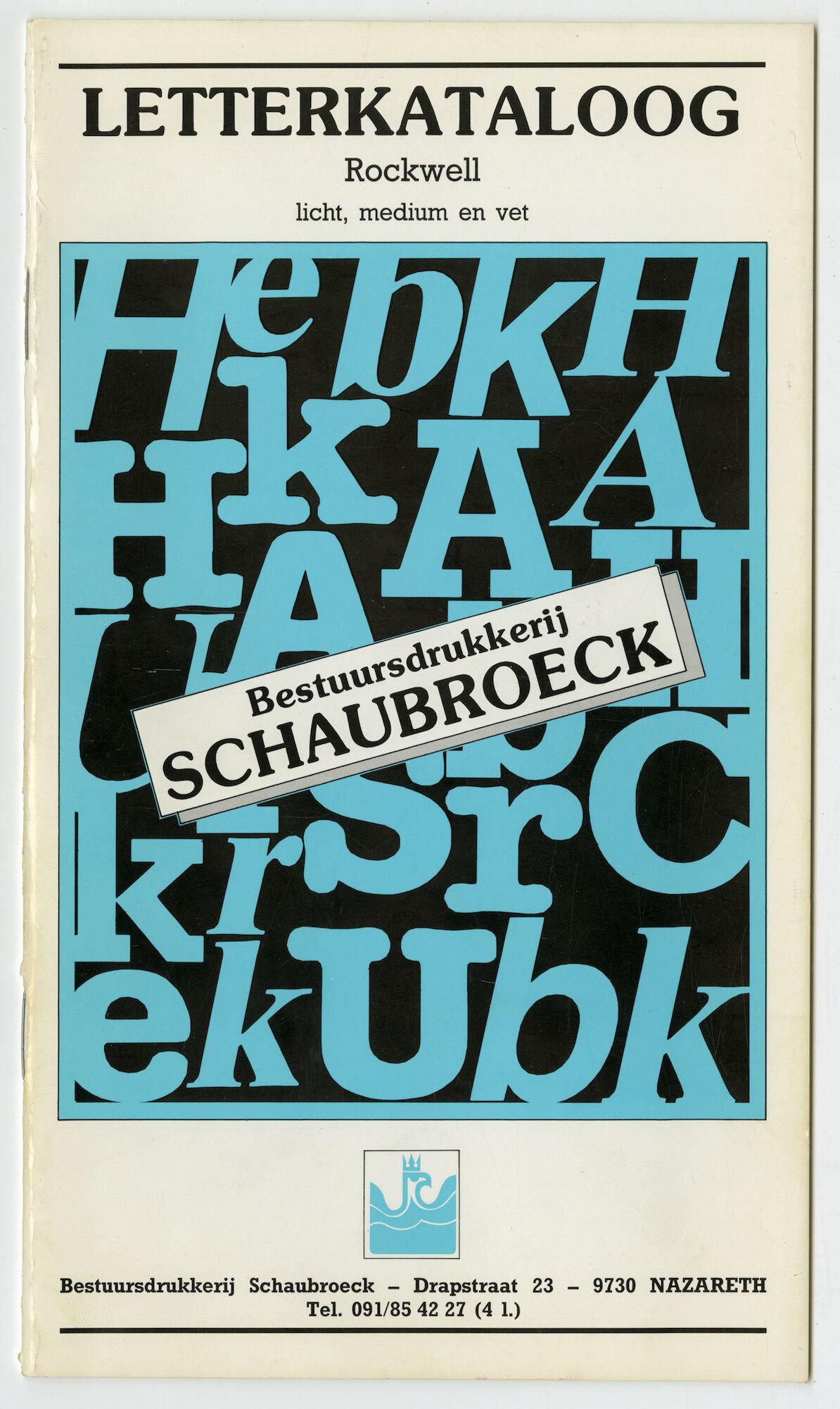 Letterproef met het lettertype Rockwell
