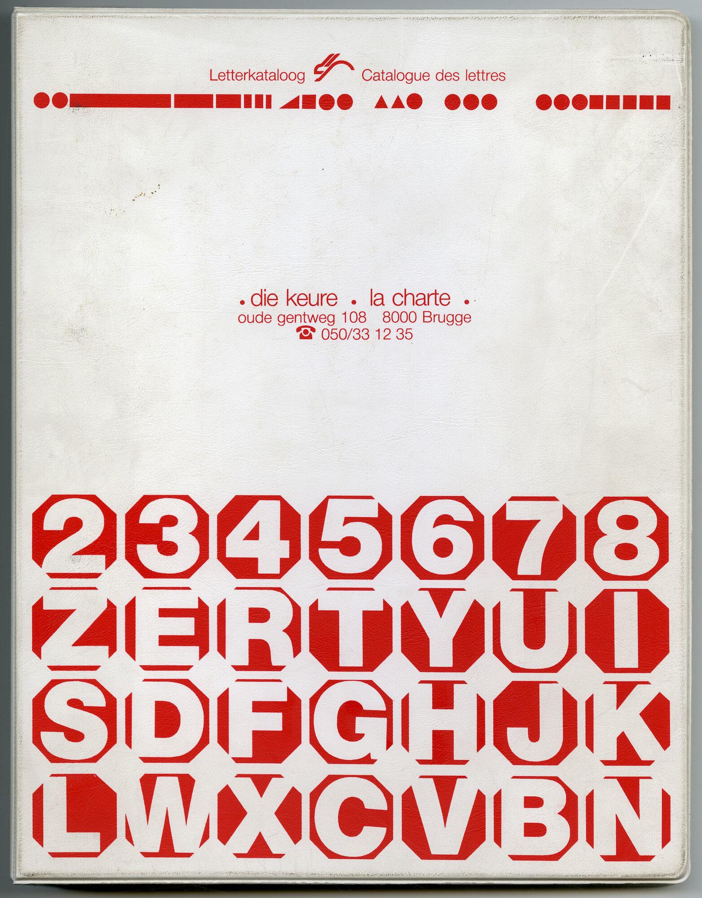 Letterproef met verschillende lettertypes van Die Keure