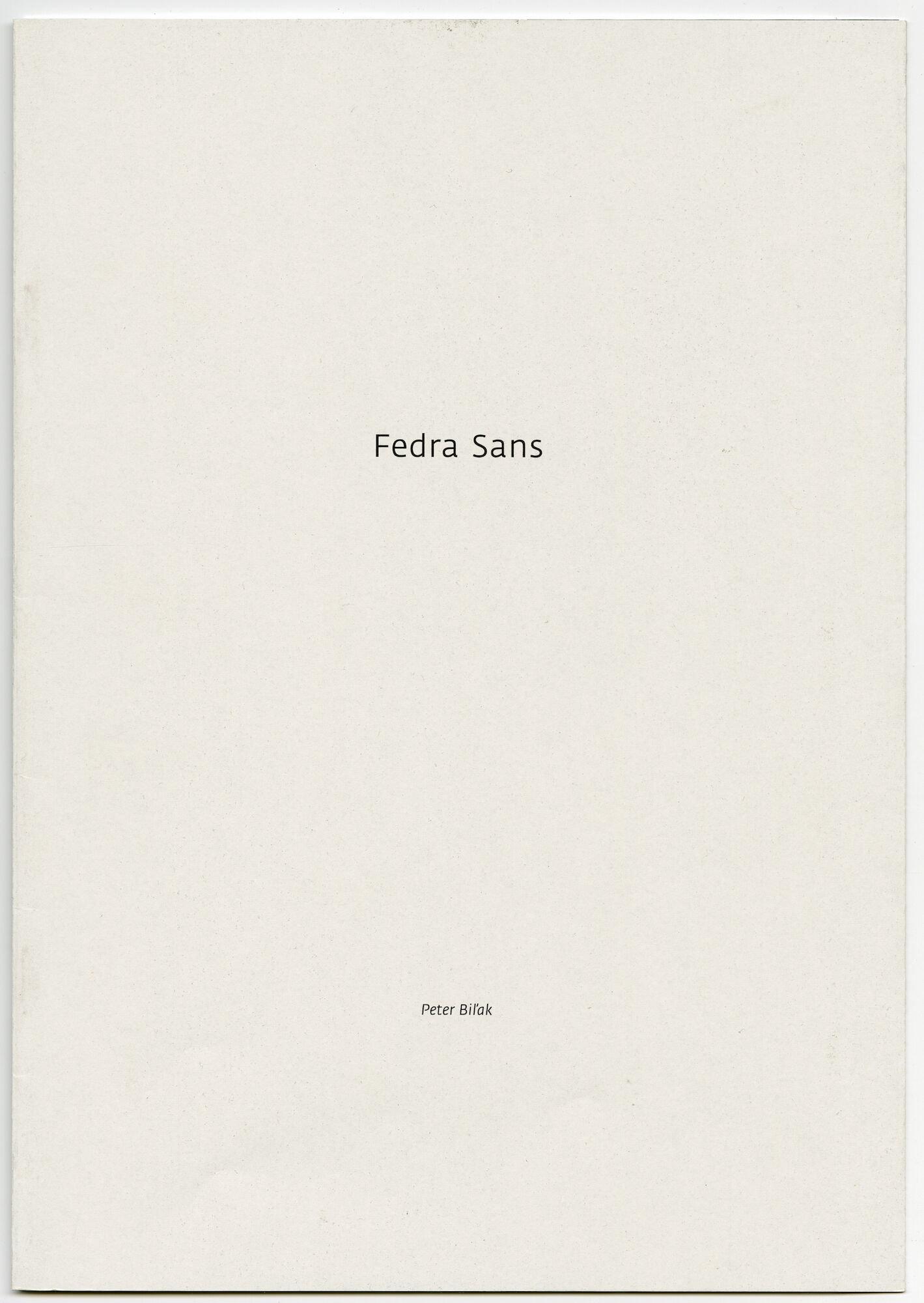 Letterproef met het lettertype Fedra Sans
