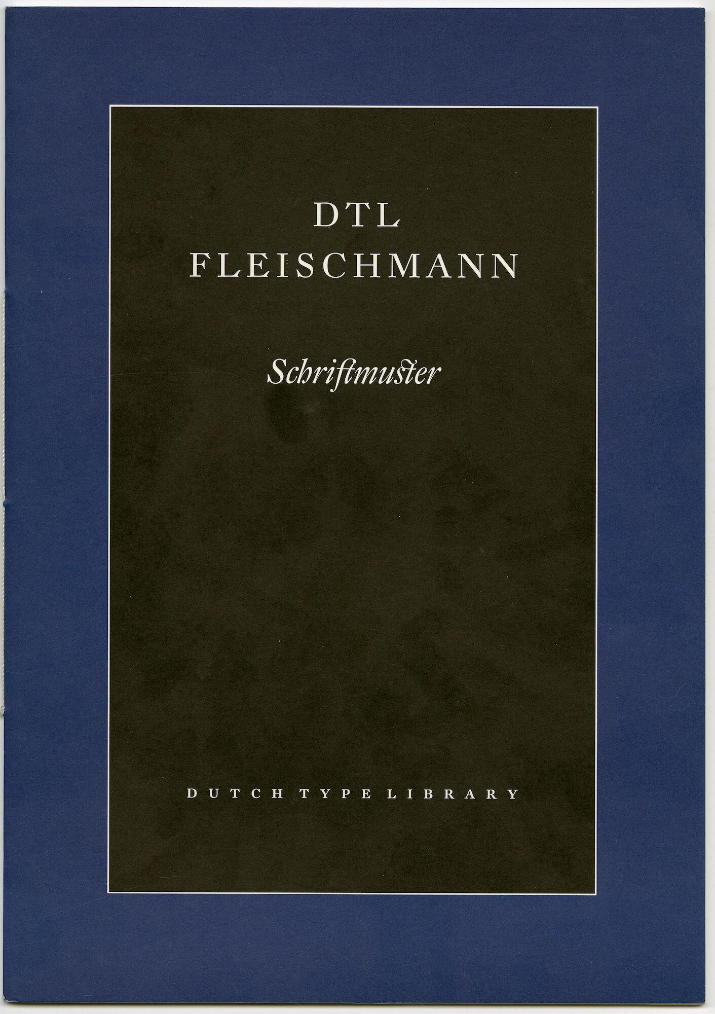 Letterproef met lettertype DTL Fleischmann