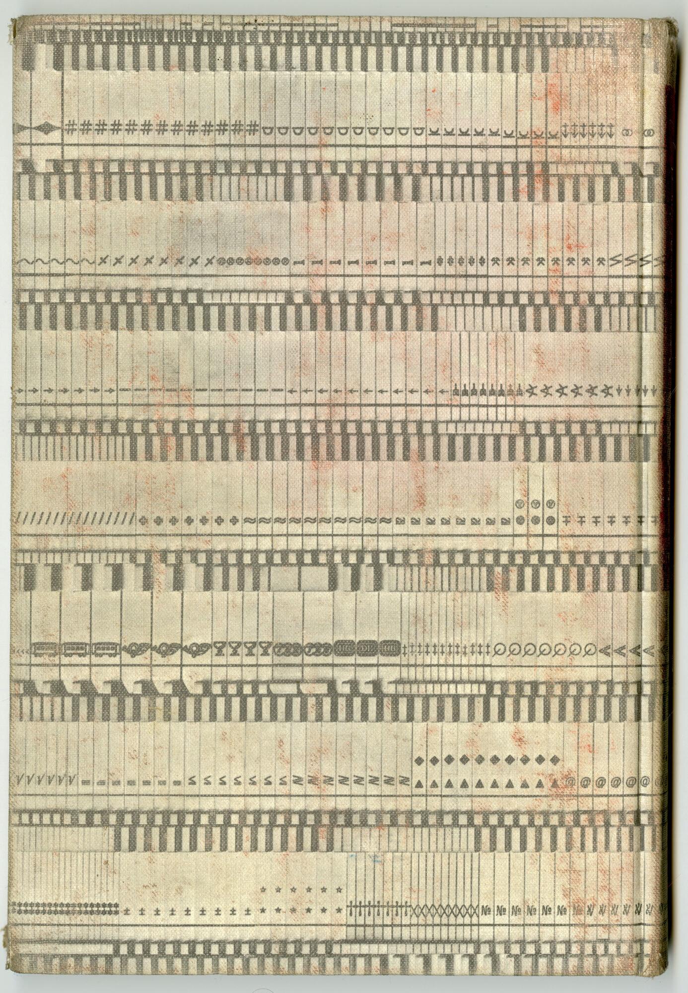Letterproef met speciale tekens van Linotype