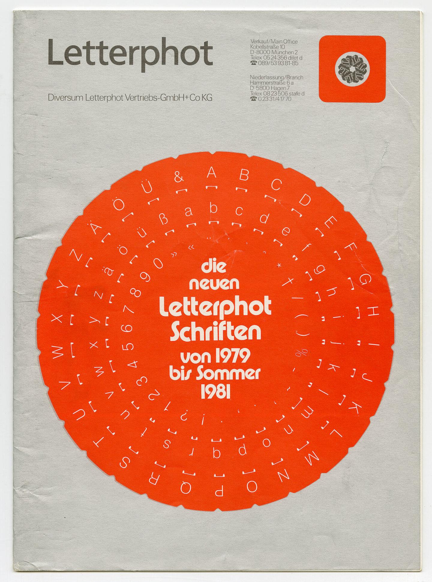 Letterproef met verschillende lettertypes van Letterphot