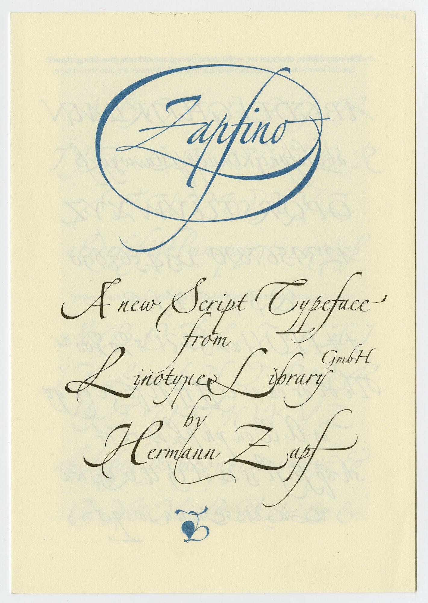 Letterproef met lettertype Zapfino van Linotype
