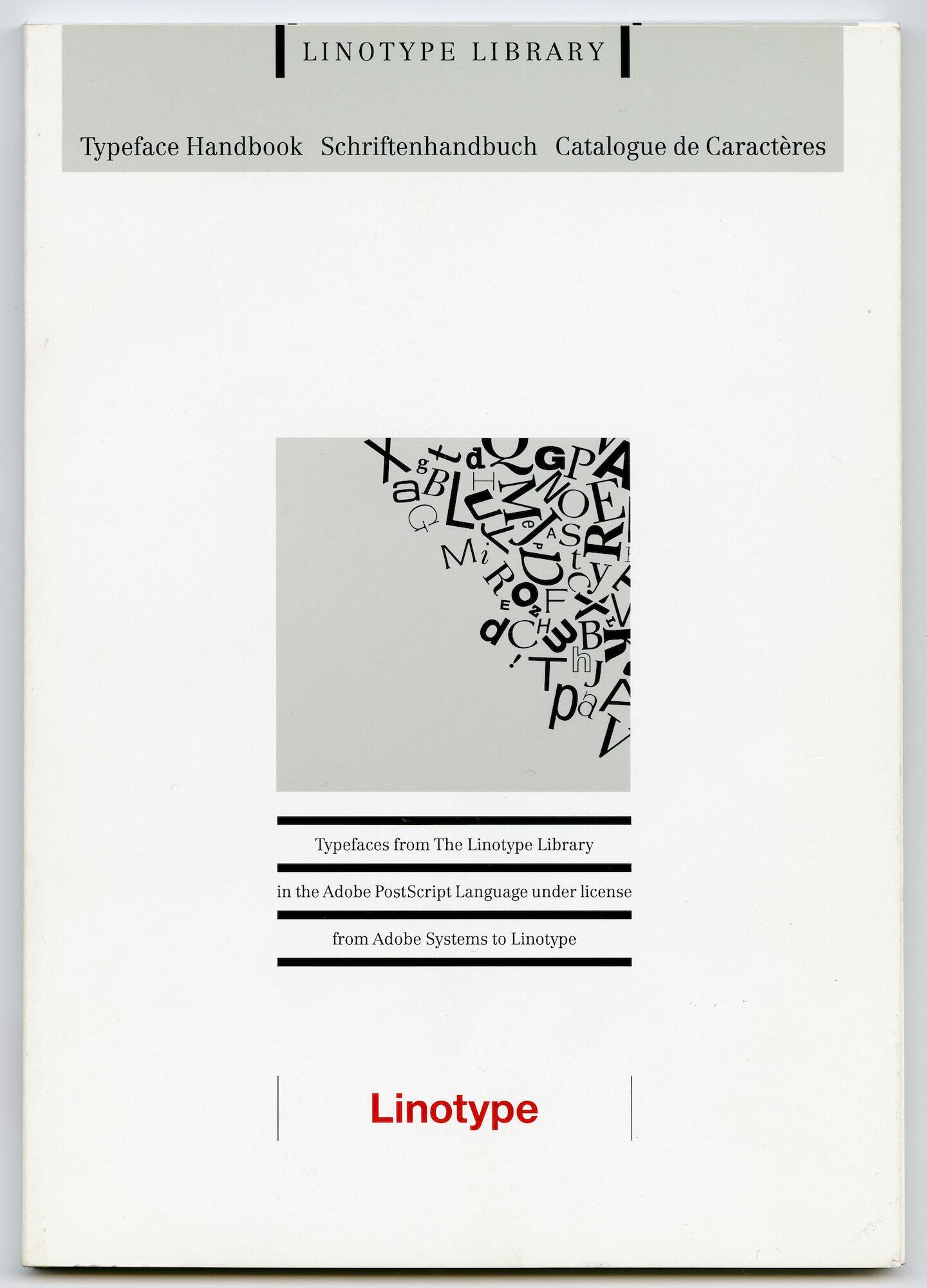Letterproef met digitale lettertypes van Linotype