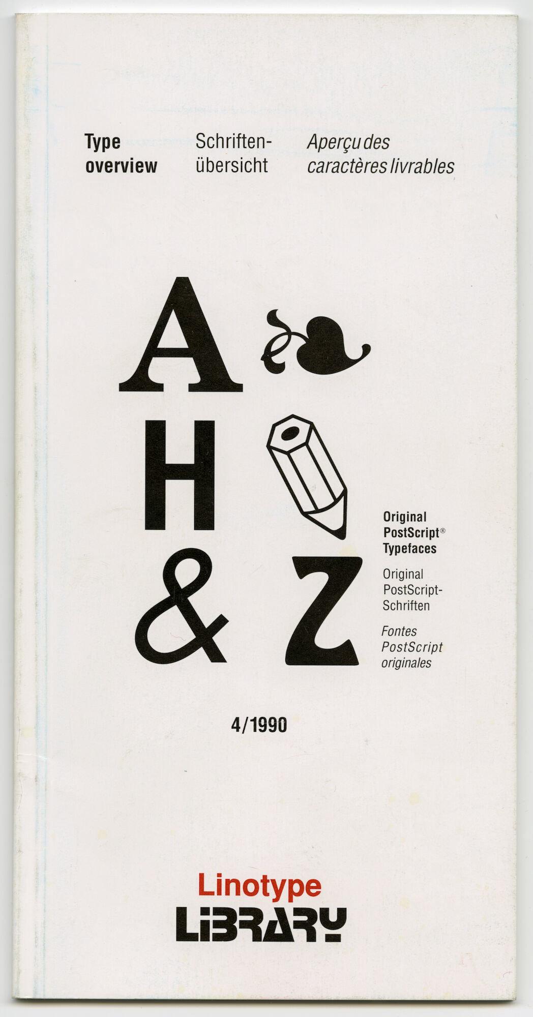 Letterproef met verschillende digitale lettertypes van Linotype