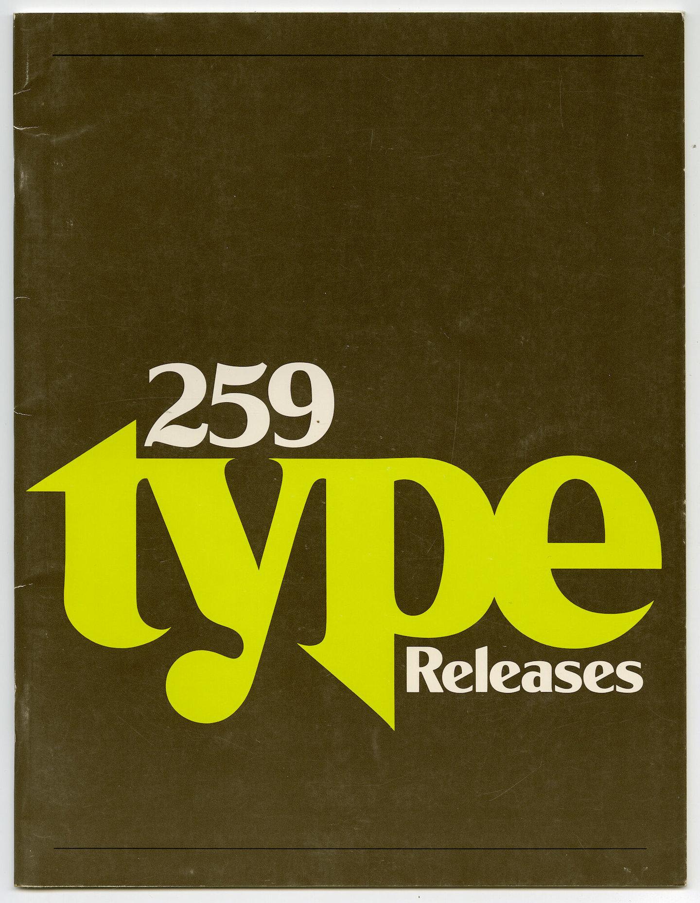 Letterproef met verschillende lettertypes voor Compugraphic