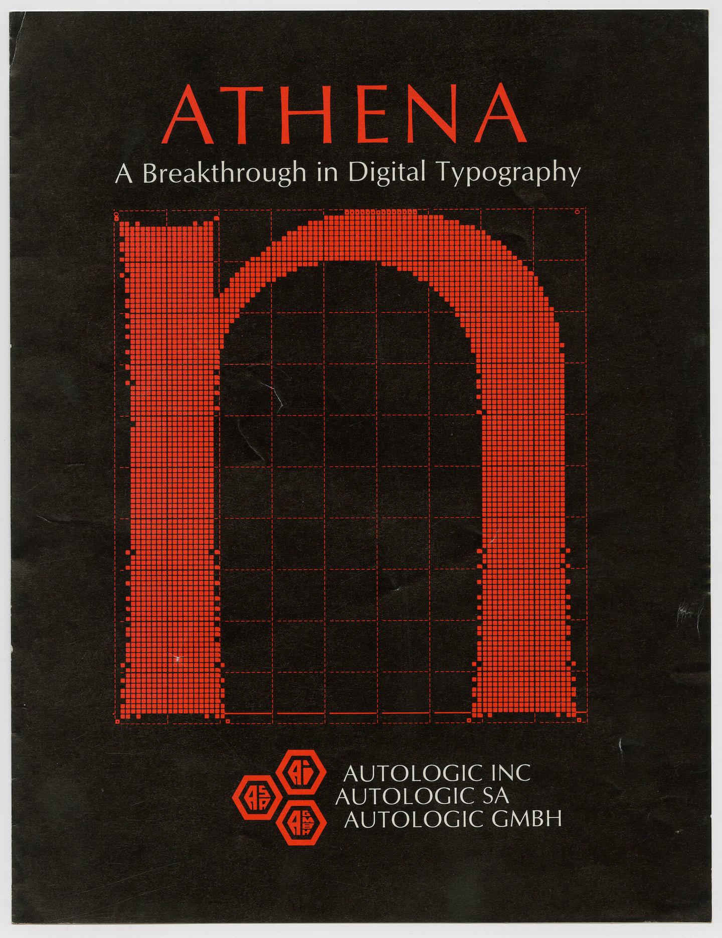 Letterproef met het digitale lettertype Athena van Autologic