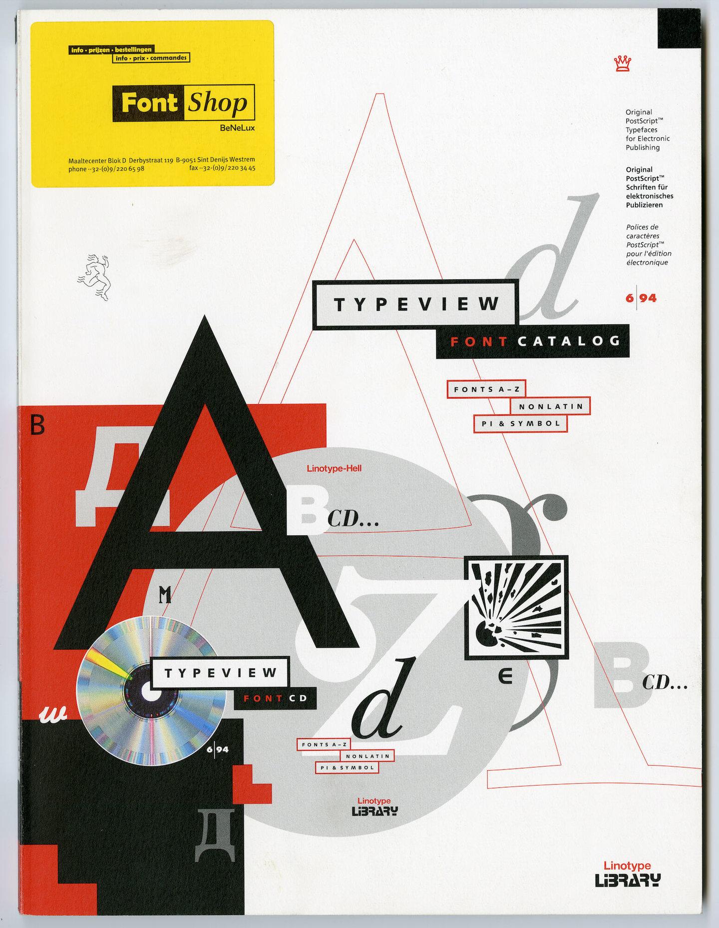 Letterproef met digitale lettertypes van Linotype Library