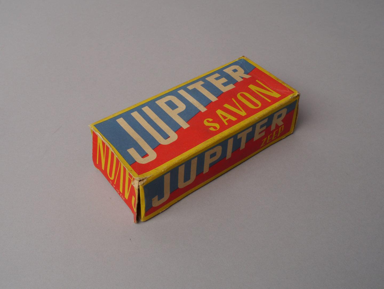 Doos voor huishoudzeep van het merk Jupiter