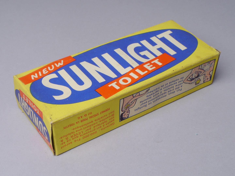 Doos met toiletzeep van het merk Sunlight